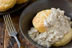 sausage gravy recipe from the kitchn...can't say i've ever made this, but it might come in handy sometime!
