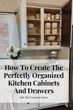 I am so thrilled to share with you how to create the perfectly organized kitchen cabinets and drawers. This project is one of my favorite home projects to date. #kitchendecor #kitchendesign