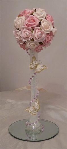 Rose pomander centrepiece