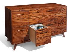 We can build one of our signature record cabinets or stands to house your LPs, CDs, singles and more - in the wood and stain for your choice.
