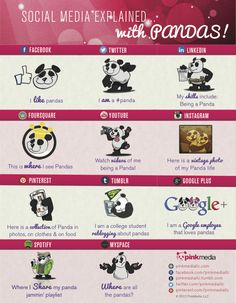 Social media explained with pandas #SocialMedia #Pandas