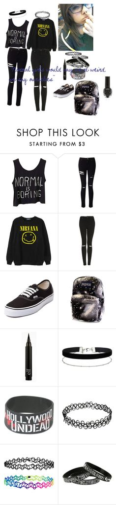 """""""not so normal"""" by mermaidatheart713 ❤ liked on Polyvore featuring Miss Selfridge, Chicnova Fashion, Topshop, Vans and Accessorize"""