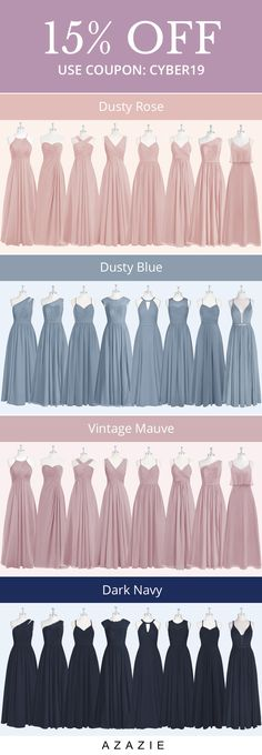 Shop for a large variety of dusty blue bridesmaid dresses at Azazie. With bridesmaid dresses from Azazie, you are sure to find a dusty blue bridesmaid dress for the perfect look for your wedding. Flowy Prom Dresses, Dusty Blue Bridesmaid Dresses, Azazie Bridesmaid Dresses, Blue Gown, Dresses For Sale, Coupon, Tulle, Ballet Skirt, Gowns