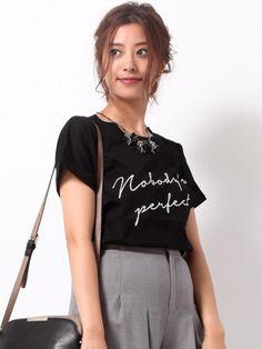 【刺繍ロゴTシャツ】大人気!刺繍ロゴニットから新バージョンが登場!ロゴはプリントで…