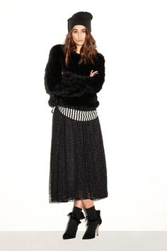 Milly Pre-Fall 2014 Collection The lace, fuzz,stripes!