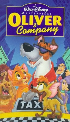 Walt Disney Masterpiece - Oliver and Company VHS, 1996 Disney Pixar, Old Disney Movies, Disney Movie Posters, Film Disney, Disney Animation, Old Movies, Disney And More, Disney Love, Disney Channel