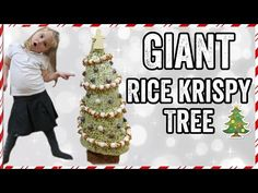 In this video we attempt to make a giant edible Christmas tree using rice krispies! Yes a Giant Rice Krispie tree that is the height of a child! Chocolate Rice Krispies, Giant Food, Christmas Tree, Christmas Ornaments, Holiday Decor, How To Make, Teal Christmas Tree, Xmas Trees, Christmas Jewelry