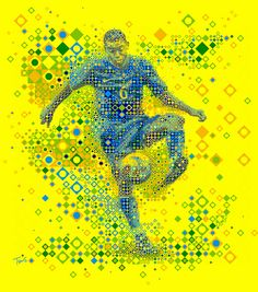 See saves related to Brazil. Nike Poster, Soccer Art, Football Icon, World Cup 2014, Mosaic Art, Mosaics, Illustrations And Posters, Art Pictures, Street Art