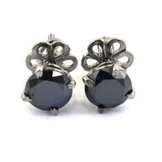 Black Diamond Bracelet, Black Diamond Studs, Princess Cut Diamonds, Colored Diamonds, Diamond Cuts, White Gold