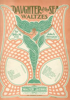 """"""" Daughter of the Sea — Waltzes """" … Sheet Music, 1903    [Sailor Gil Collection]"""