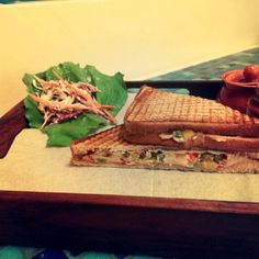 Hummus Pepper And Jalapeno Sandwich   German Bakery   Pune