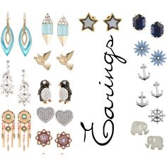 Earings by tgray2020 on Polyvore featuring Alexis Bittar, Carolee, Dogeared, MUNNU The Gem Palace, Kendra Scott, Snö Of Sweden, M&Co, R.J. Graziano and Jewel Exclusive