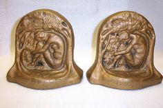 Catalina Island Pottery #56 Bathing Girl Bookends - Very rare and discontinued 1-20-1933
