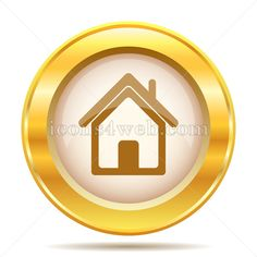 Home golden button. Home golden icon. Royalty free icon for your projects. High quality golden internet icon on white background. Web Design Icon, Logo Design, Internet Icon, Find Icons, Website Icons, Royalty Free Icons, Design Projects, Illustration Art, Buttons