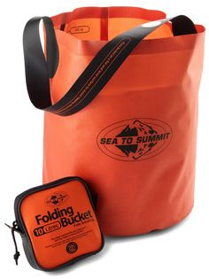 Easily transport up to 10 liters of water back to your campsite with the lightweight and packable Sea To Summit Folding Bucket.