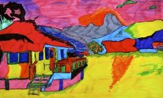Tropical landscape inspired by Gauguin