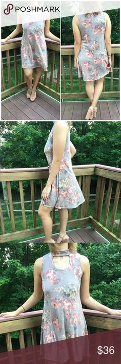 Floral Choker Dress Floral Choker Sleeveless Dress. Rayon/ spandex blend. Model wearing size small. Fits true to size B Chic Boutique Dresses Mini
