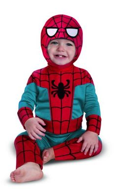 These kids Spiderman costumes come in many different styles and sizes. With infant and toddler sizes and reversible and black Spiderman styles for Halloween. Baby Halloween Costumes Newborn, Diy Halloween Costumes For Kids, Toddler Costumes, Boy Costumes, Super Hero Costumes, Costume Ideas, Halloween 2013, Halloween Crafts, Costumes Marvel