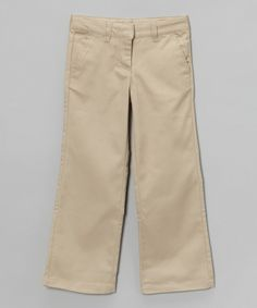 Take a look at the IZOD Khaki Bootcut Pants - Girls on #zulily today!