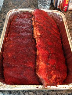 Rub is not a marinade and I'd rather taste the meat, complimented by smoke and rub. BTW, it's called RUB for a reason. Work it in good and cover the meat evenly on both sides & around the edges. Rib Rub, Barbeque Sauce, Smoking Recipes, Smoked Ribs, Bbq Ribs, Smoking Meat, Outdoor Cooking, Beef Recipes, Food And Drink