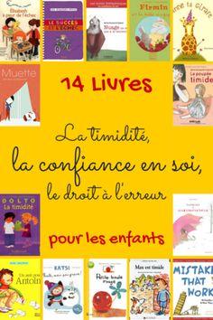 14 livres sur la confiance en soi, le droit à l'erreur, la timidité...