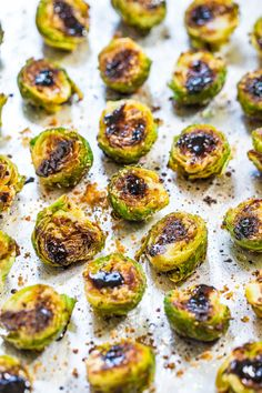 Balsamic Roasted Brussels Sprouts - Think you don't like brussels sprouts? The balsamic glaze on these will change your mind!! BEST brussels sprouts ever!! Fast, easy, and accidentally healthy!