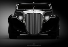 Turkish automotive designer Ugur Sahin's version of the Rolls Royce Jockheer Aerodynamic Coupe  resembles a 1935 Belgian-built model.