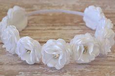 Diadema niña de las flores boda casco niña por LilMajestyBoutique