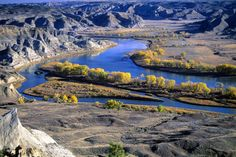 Along the Lewis and Clark Trail. Missouri River. Montana.