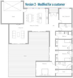 Customer House Plan. Modified home plan