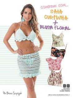 Saia Candy por Bruna Szpisjak na Revista Moda Crochê: Especial Praia n°9.    #semprecirculo #crochet #croche #ganchillo #handmade #trendy #moda #praia #saia #handmade