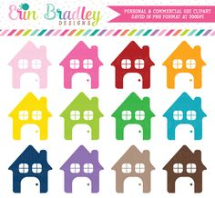 House Clipart Set – Erin Bradley/Ink Obsession Designs