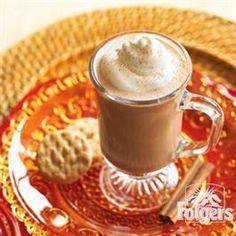 Cinnamon Mocha Coffee from Folgers® Mocha Coffee, My Coffee, Chocolate Coffee, Coffee Time, Coffee Club, Coffee Break, Coffee Shop, Espresso, Coffee Drink Recipes