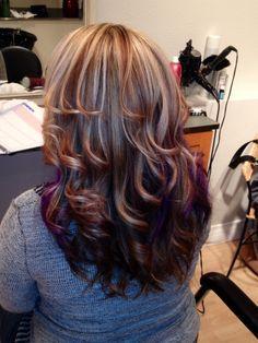 Highlights, lowlights and peekaboo purple! So much fun!! AWESOME!!!!!