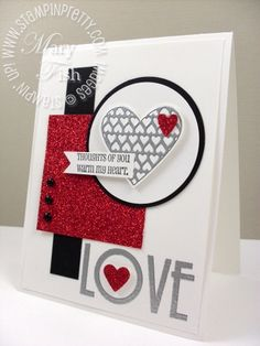 My Stampin' Up! Valentines from the Archives - Mary Fish, Stampin' Pretty The Art of Simple & Pretty Cards Valentine Love Cards, Valentines Diy, My Planner Colibri, Pretty Cards, Creative Cards, Anniversary Cards, Greeting Cards Handmade, Scrapbook Cards, Homemade Cards