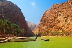 Oman Landschaften - Wadi Shab