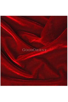 Dark Red Velvet Fabric