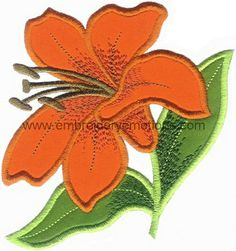 Applique Flowers - Machine Embroidery Designs
