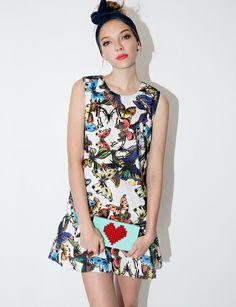 Butterfly Flared Dress