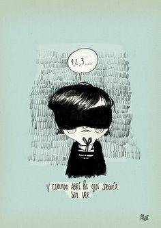 """""""Diario de una volátil"""" by Agustina Guerrero  veo veo  que ves?  una cosa  que cosa?  maravillosa  de qué color?  color color...  negro!    (a lo mejor si te quitaras la venda)"""