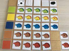 Matrix dinosaurussen kleur en versiering *liestr* Math Problem Solving, Reggio Emilia, Games For Kids, Activities, Kid, Projects, Colour, Games For Children
