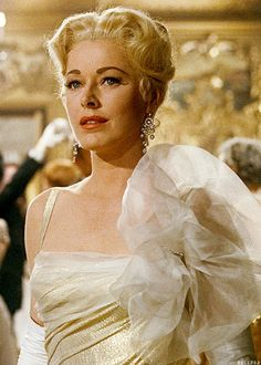 The  Baroness Von Schrader in her gold lame gown.