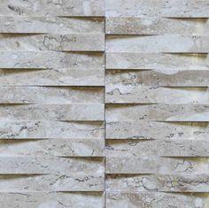 Brogliato Revestimentos - Coleções - 3D Mosaic - D060 Travertino - 30x30cm.
