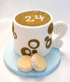 A cup of coffee sugarpaste cake