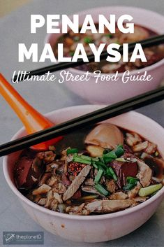 The ultimate food lover's guide to Penang, Malaysia. These 7 legendary street food stalls epitomize local Malaysian cuisine at its finest. From lor bak to curry, we've got you covered. | Blog by the Planet D #Travel #Malaysia