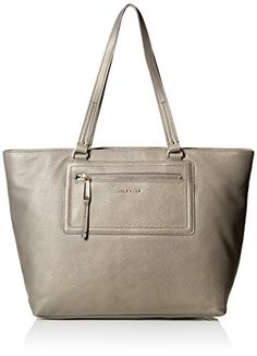 Cole Haan Acadia Leather Tote Top Handle Bag, Zinc, One Size >>> See this awesome image @
