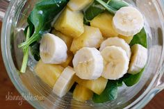 Smoothies are a great way to get those fruits and veggies in. add some coconut oil for some fat burning and metabolism boosting! --A tropical green smoothie made with pineapple, shredded coconut and bananas, then blended with spinach, light coconut milk Smoothie Drinks, Healthy Smoothies, Healthy Drinks, Fruit Smoothies, Healthy Snacks, Healthy Eating, Healthy Recipes, Nutrition Drinks, Smoothie Cleanse