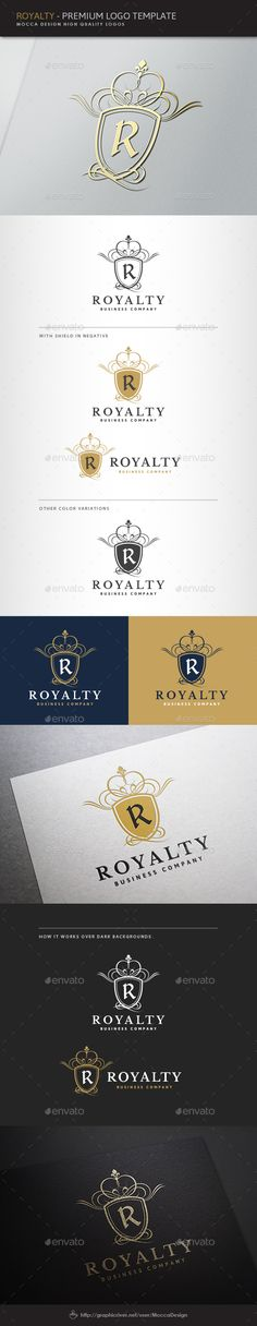 Buy Royalty Logo by MoccaDesign on GraphicRiver. UPDATES – New color versions and file formats added. - All fonts of the logo changed to Free fonts an. Logo Design Template, Logo Templates, Brooklyn Bridge, Logo Web, Betty Faria, Inspiration Logo Design, Web Design, Graphic Design, Icon Design