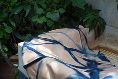 Natural vaqueta leather dyed with indigo / Vaqueta natural teñida con añil