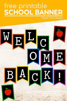Welcome back to school sign letters that would work for an elementary classroom, middle school classroom decor or high school classroom decorations. Holiday Activities, Classroom Activities, Classroom Decor, Activities For Kids, Chalkboard Paper, Sign Letters, Welcome Back To School, Middle School Classroom, Teacher Worksheets